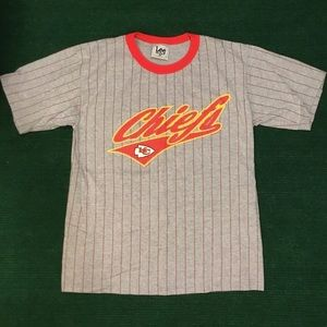 Vintage 90s Striped Chiefs Lee sport t shirt